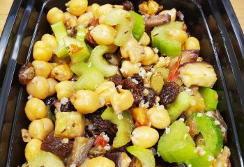 Roast Eggplant and Chickpea Salad