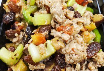 Roast Eggplant and Turkey Salad