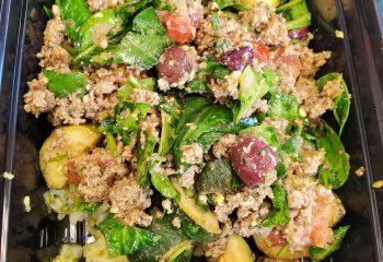 Greek Vegetarian Crumble and Rice