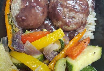 Blackberry Jalapeno Vegetarian Meatballs